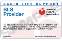 BLS Training Card